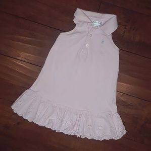 Ralph Lauren baby girl sleeveless Eyelet Dress 9mo